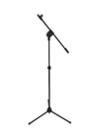 OMNITRONIC Trepied pentru microfon cu nucă de prindere, negru