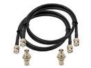 OMNITRONIC Set de cabluri de antenă cu mufe BNC, 3 m