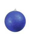 EUROPALMS Glob decorativ, 20cm, albastru, sclipitor