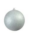 EUROPALMS Glob decorativ, 20cm, argintiu, sclipitor