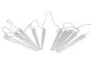 EUROPALMS LED Ghirlandă de țurțuri, 10 x 24cm, alb