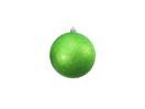 EUROPALMS Glob decorativ, 10cm, măr-verde , sclipitor