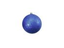 EUROPALMS Glob decorativ, 10cm, albastru, sclipitor