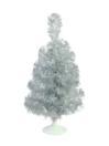 EUROPALMS Pom de Crăciun pentru masă, argintiu, 45cm