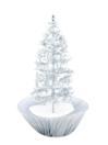 EUROPALMS Brad de crăciun cu ninsoare, argintiu, 200cm
