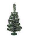 EUROPALMS Pom de Crăciun pentru masă, verde cu alb, 45cm