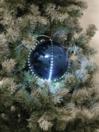 EUROPALMS LED Glob bulgăre de zăpadă, 8cm, albastru inchis, (5 buc)