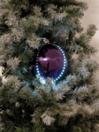 EUROPALMS LED Glob bulgăre de zăpadă, 8cm, violet, (5 buc)