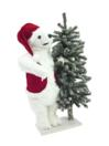 EUROPALMS Urs polar cu brad nins, 105cm