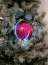 EUROPALMS LED Glob bulgăre de zăpadă, 8cm, roz, (5 buc)