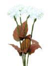 EUROPALMS Hortensie, albă, 4 flori, 100 LED-uri