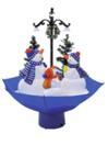 EUROPALMS Umbrelă cu familie de oameni de zăpadă, cu ninsoare