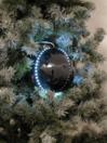 EUROPALMS LED Glob bulgăre de zăpadă, 8cm, negru, (5 buc)