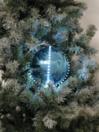 EUROPALMS LED Glob bulgăre de zăpadă, 15cm, albastru gheață, (1 buc)