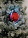 EUROPALMS LED Glob bulgăre de zăpadă, 15cm, roșu, (1 buc)