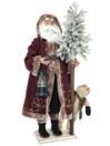 EUROPALMS Moș Crăciun, cu brad nins, 150cm