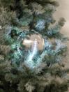EUROPALMS LED Glob bulgăre de zăpadă, 8cm, argintiu, (5 buc)