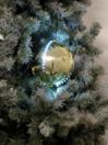 EUROPALMS LED Glob bulgăre de zăpadă, 8cm, auriu, (5 buc)