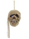 EUROPALMS Craniu de mumie cu LED-uri albastre