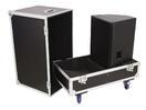 OMNITRONIC Case pentru transport boxe 2x PAS-215 cu roți