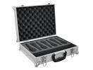 OMNITRONIC Road Case pentru 7 microfoane, argintiu