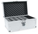 OMNITRONIC Road Case pentru 12 microfoane, argintiu