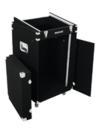 OMNITRONIC Case Combo,  4U, mochetat, negru, cu roți