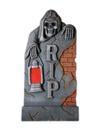 EUROPALMS Piatră de mormant cu felinar de Halloween