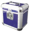 OMNITRONIC ALU 75/25 Case albastru pentru discuri LP, rotunjit