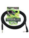 SOMMER CABL IC-Spirit 1x0,50qmm, Cablu 6,3mm tată la 6,3mm tată 90grade, negru, 6m