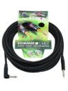 SOMMER CABL IC-Spirit 1x0,50qmm, Cablu 6,3mm tată la 6,3mm tată 90grade, negru, 10m