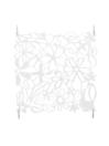 EUROPALMS Separator de camera alb, flori, 4 buc
