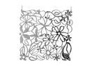 EUROPALMS Separator de camera cromat, flori, 4 buc
