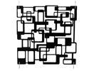 EUROPALMS Separator de camera negru, labirint, 4 buc