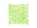 EUROPALMS Separator de camera verde, bețe, 4 buc