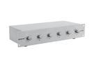 OMNITRONIC PA Controler de volum pe 6 zone, stereo, 30W, argintiu