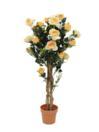 EUROPALMS Trandafir galben, de lux, 125cm