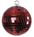 EUROLITE Glob cu oglinzi roșu, fără motor, 10 cm