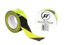 STAGETAPE Bandă pentru marcare din PVC, negru cu galben