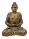 EUROPALMS Statuetă Buddha, auriu antic, 120cm