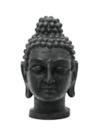 EUROPALMS Statuetă cap de Buddha, negru antic, 75 cm