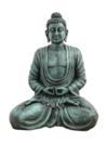 EUROPALMS Statuetă Buddha, negru antic, 120cm