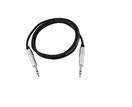 OMNITRONIC KS-10 Cablu 6,3mm tată la 6,3mm tată 1m, negru, stereo