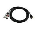 OMNITRONIC XC2-60 Cablu adaptor  2 xXLR tată/2 xRCA, 6m