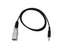 EUROLITE Cablu adaptor DMX jack 3,5mm tată/XLR tată, 1m