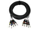 OMNITRONIC Multicablu Snake-cable 8x 6,3mm tată/8x 6,3mm tată mono, 6m