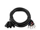 OMNITRONIC Multicablu Snake-cable 8x XLR tată/8x 6,3mm tată stereo, 15m