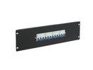EUROLITE PDM 3U-4x16A FB Distribuitor cu 4 siguranțe x 16 A, 3 pini, pentru rack