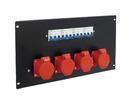 EUROLITE PDM 6U-4CEE Distribuitor cu 6 prize CEE, 16A, 5 pini, pentru rack