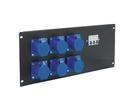 EUROLITE PDM 5U-6CEE Distribuitor cu 6 prize CEE, 16A, 3 pini, pentru rack